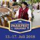 Heute in 4 Wochen startet das Parkfest!